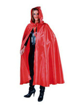 Deluxe Red Satin Hooded Cloak/Cape - Red Riding Hood - $33.28