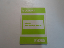1990 Suzuki Rm250 Owners Maintenance Manual Water Damaged Factory Oem Book 90 - $19.76