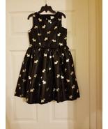 Gymboree Girls Black & Gold Scottie Dog Holidays/Christmas Dress, Size 7... - $19.79