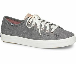 Keds Womens Kickstart Speckled Canvas Sneakers Dark Gray - $37.50