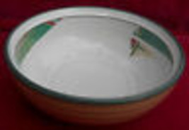 """4 NORITAKE NEW WEST 8696 SOUP CEREAL BOWLS SOUTH GREEN STONEWARE 6 1/2"""" - $39.59"""