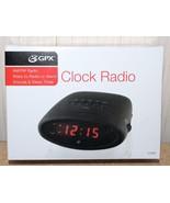 NEW GPX C200B BLACK EASY TO USE AM/FM RADIO ALARM CLOCK BATTERY BACKUP W... - $9.74