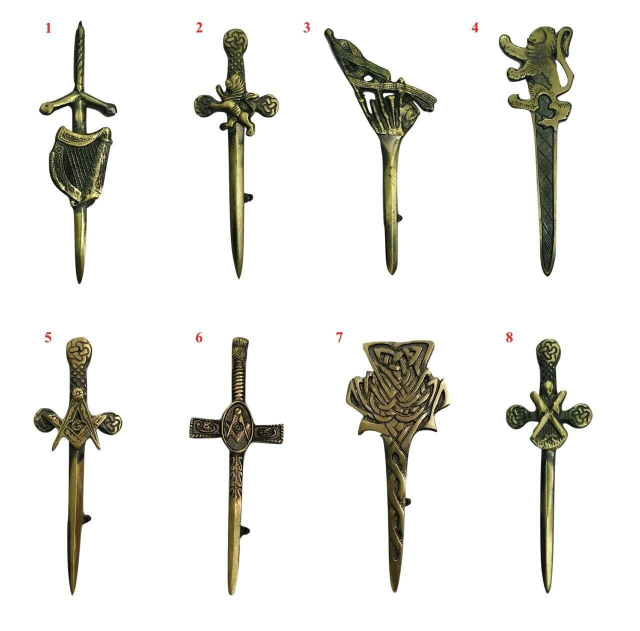 """Lauder Battle-Axe Kilt Pin Chrome Finish 4/""""//Scottish Kilt Pin//Axe Kilt Pins"""