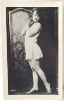 Vintage Risque Photo Woman in Lingerie, Early J. Mandel  - $21.73