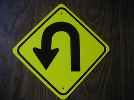 Metal Mini   U Turn   Traffic Signs   Miniature Sign - $4.95