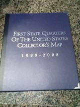 1999-2008 50 STATE QUARTER STORAGE BOX book - $9.75