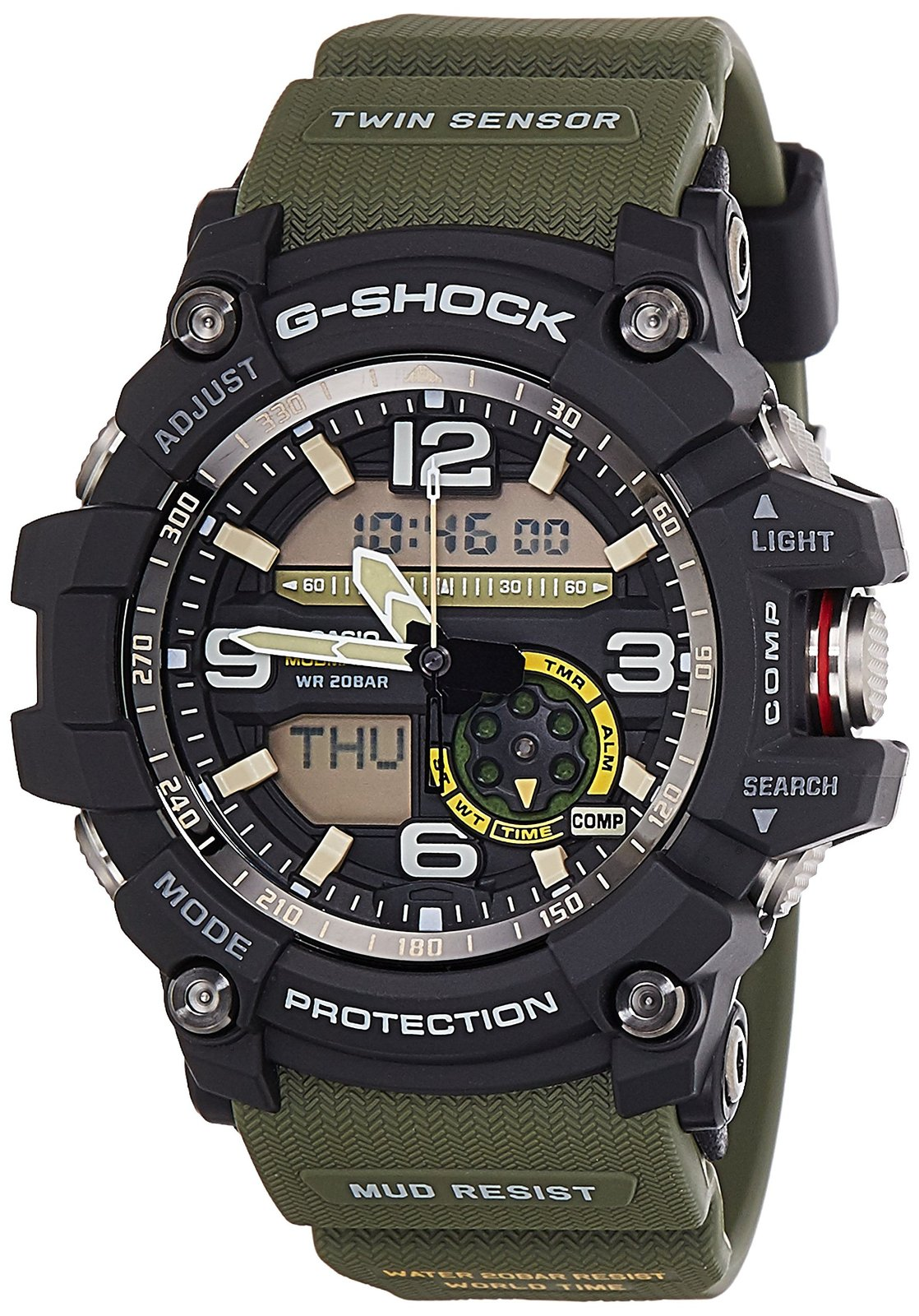 Casio G SHOCK MUDMASTER Mens Watch GG 1000 1A3DR Watches