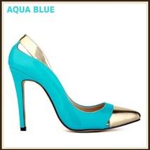 Paris Style 12 Fashion Colors PU Gold Toe Classic Stiletto High Heel Pumps  image 3