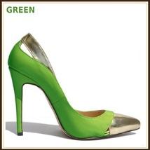 Paris Style 12 Fashion Colors PU Gold Toe Classic Stiletto High Heel Pumps  image 4