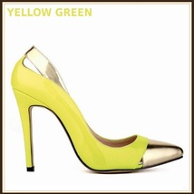 Paris Style 12 Fashion Colors PU Gold Toe Classic Stiletto High Heel Pumps  image 5