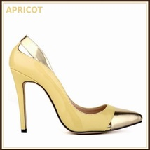 Paris Style 12 Fashion Colors PU Gold Toe Classic Stiletto High Heel Pumps  image 6