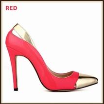 Paris Style 12 Fashion Colors PU Gold Toe Classic Stiletto High Heel Pumps  image 8