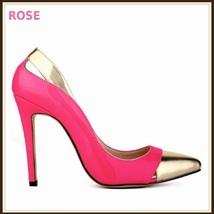 Paris Style 12 Fashion Colors PU Gold Toe Classic Stiletto High Heel Pumps  image 9