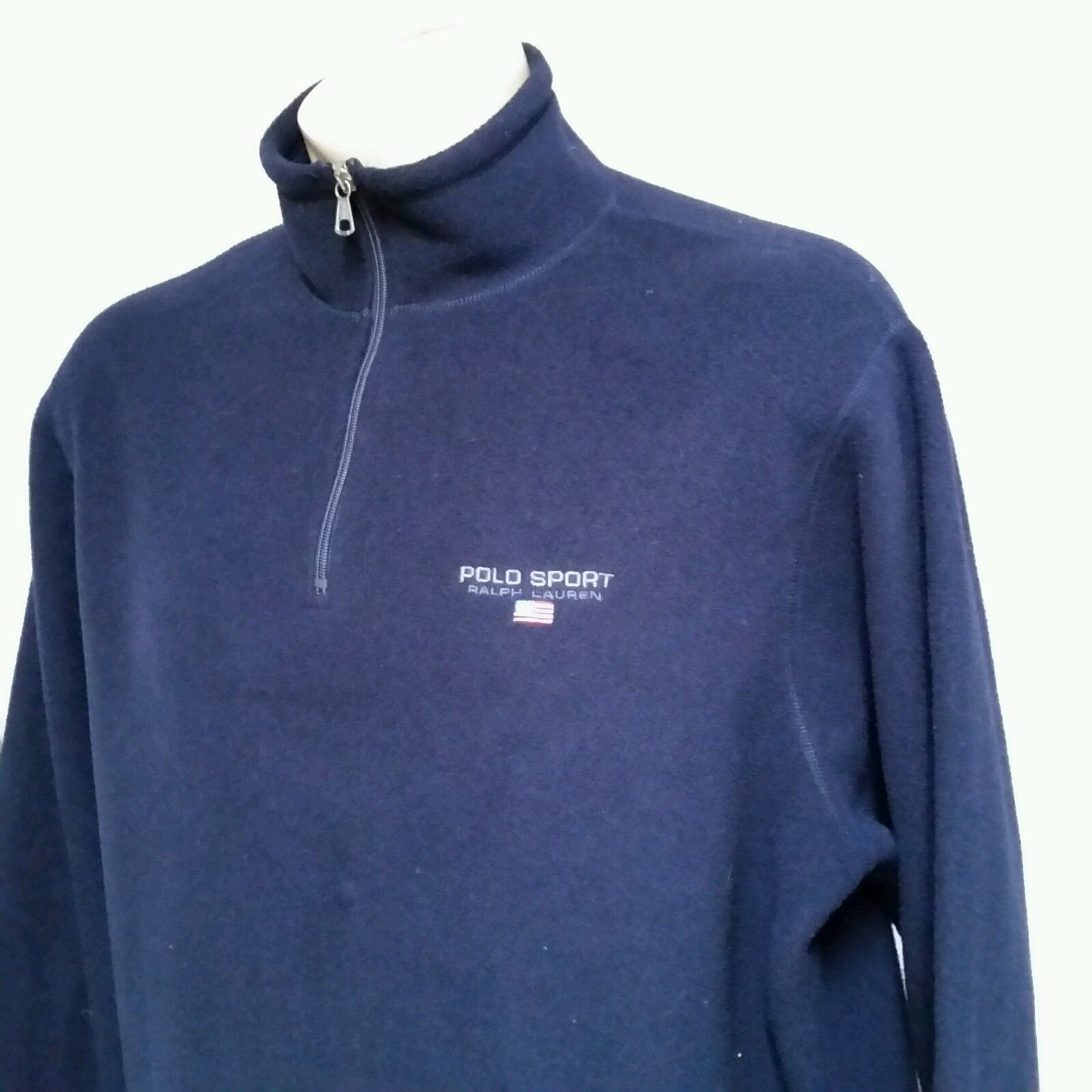 VTG 90`s Ralph Lauren Polo Sport Fleece Jacket Sweatshirt Stadium Bear Pwing XL