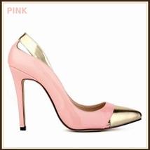Paris Style 12 Fashion Colors PU Gold Toe Classic Stiletto High Heel Pumps  image 10
