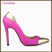 Paris Style 12 Fashion Colors PU Gold Toe Classic Stiletto High Heel Pumps  image 11