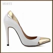 Paris Style 12 Fashion Colors PU Gold Toe Classic Stiletto High Heel Pumps  image 12