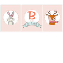 Nursery Decor Forest Animals Posters (set of 3) New Baby Gift - £23.38 GBP