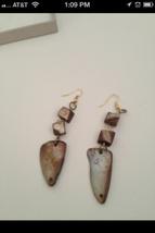 reversible shell earrings pierced  - $19.99