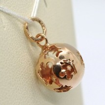 Pendant in Rose Gold 9K, Mexican Bola, with Cord, Roberto Giannotti, NKT110 image 2