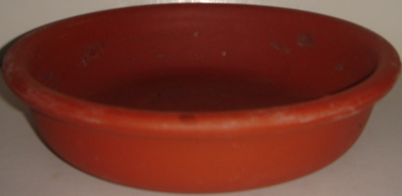 "Primary image for 7.5"" Shallow Clay Pot ~ ~ Used"