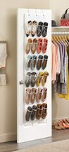 Zober Clear Over the Door Shoe Organizer 24 Sti... - $18.35