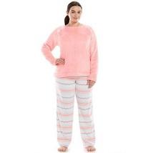 New So Womens Plus Size 3 X 2 Pc Plush Pajamas Microfleece Top & Pants Pajama Set - $23.21