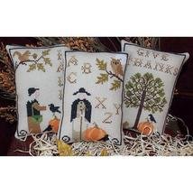 Autumn In New England cross stitch chart Plum Pudding Needleart  - $7.20