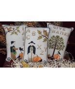 Autumn In New England cross stitch chart Plum Pudding Needleart  - $7.20
