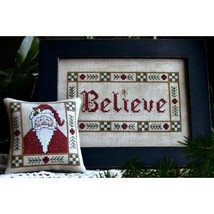 Believe christmas santa cross stitch chart Plum Pudding Needleart - $6.30