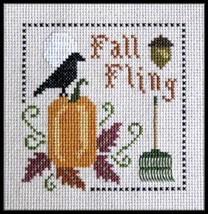 Fall Fling cross stitch chart Plum Pudding Needleart  - $7.20