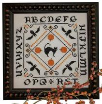 Four Bats and a Cat cross stitch chart Plum Pudding Needleart  - $7.20