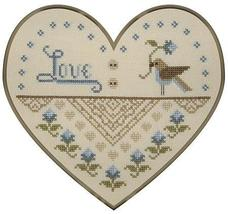 From The Heart cross stitch chart Plum Pudding Needleart  - $6.75