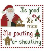 Santa's Clause christmas cross stitch chart Plum Pudding Needleart  - $6.30