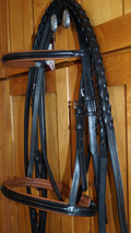 Bobby's Tack Full Sz Black with Brown Padding Bridle w/Laced Reins  - $142.00