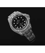 30 carats iced out diamonds rolex watch oyster ... - $28,203.12