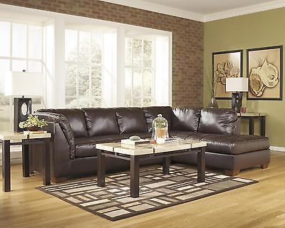 Ashley Fairplay DuraBlend Sectional in Mahogany Right Facing Contemporary Style