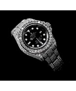Mens rolex watch 30 carats iced out diamond cov... - $27,225.00