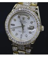 Presidential women rolex 20 carats iced out dia... - $18,696.15