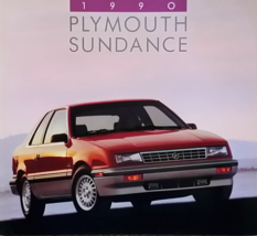 1990 Plymouth SUNDANCE sales brochure catalog US 90 RS Turbo - $6.00