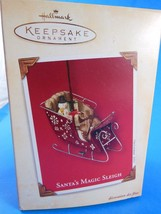 New in Box Hallmark Keepsake Ornament Santa's Magic Sleigh 2003 - $6.72