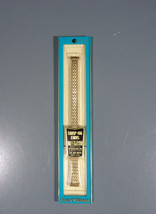 Vintage Roger Williams Gold Color Watch Band Snap On Ends Timex and All ... - $9.94