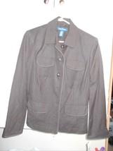 NWT Evan Picone Sz 10 Misses Brown Jacket 4 poc... - $32.49