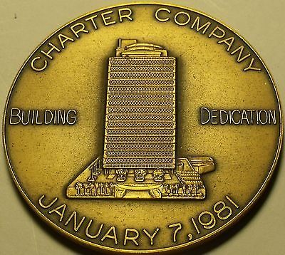 Primary image for Massive Bronze Charter Company Building Dedication Medallion~Fortune 500~Free Sh