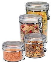 Bellemain 4 Piece Airtight Acrylic Canister Set Food Storage Container h... - £25.69 GBP