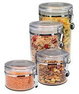 Bellemain 4 Piece Airtight Acrylic Canister Set Food Storage Container h... - £24.34 GBP