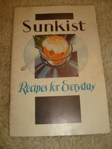 Sunkist Recipes For Everyday Recipe Booklet - 1932 - $4.50