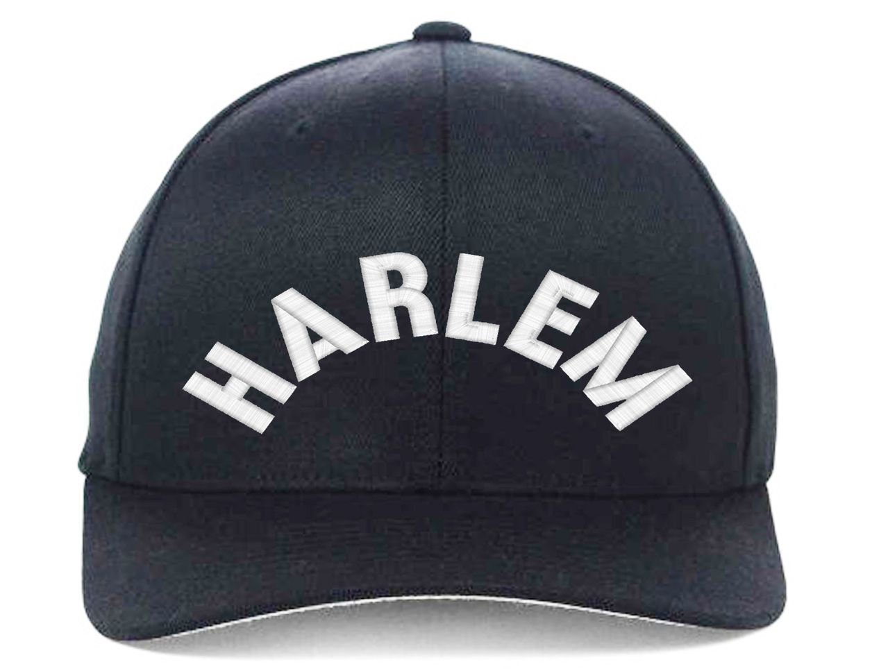 HARLEM New York, Embroidered, Flexfit Hats
