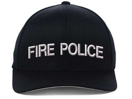 FIRE POLICE Flexfit, Fine Finished Embroidery Hats - $19.99