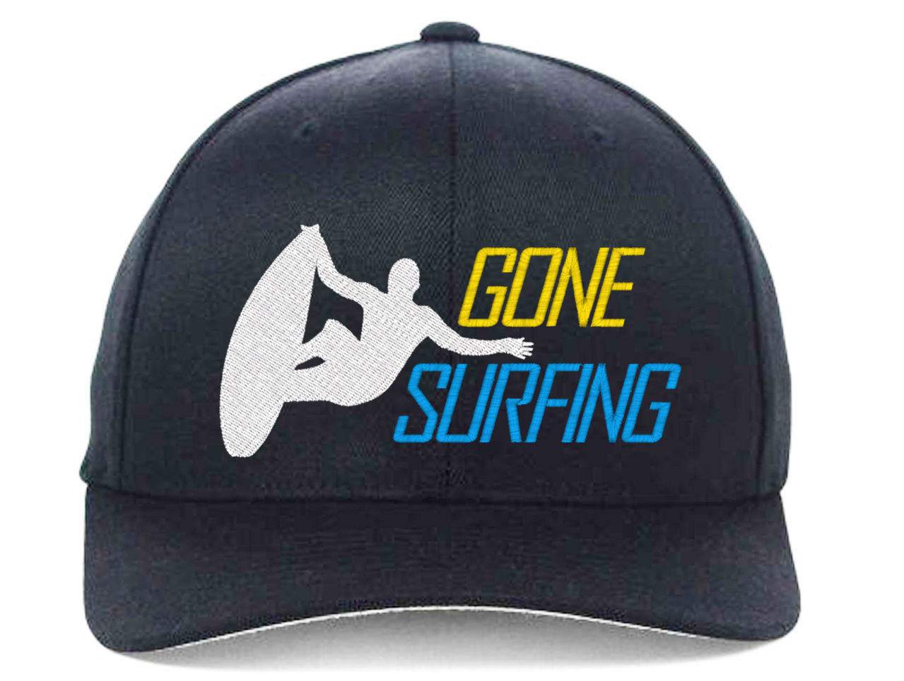 GONE Surfing, for best Surf Surfers Embroidered, Flexfit Hats